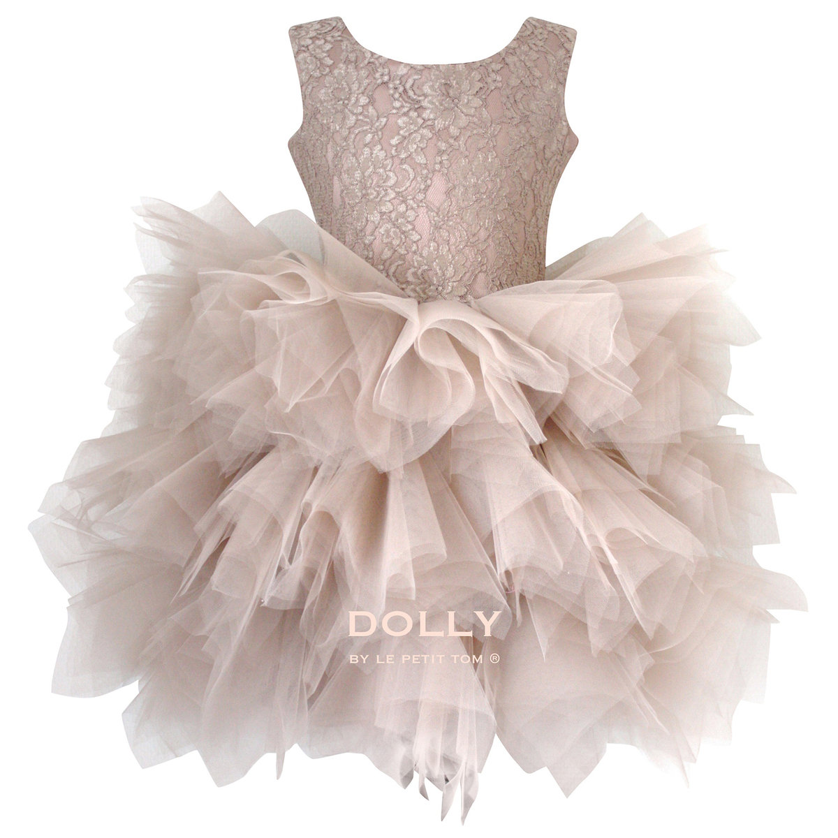 abb8cd617de7 Ballerina Style Taupe Tutu Dress Thumbnail