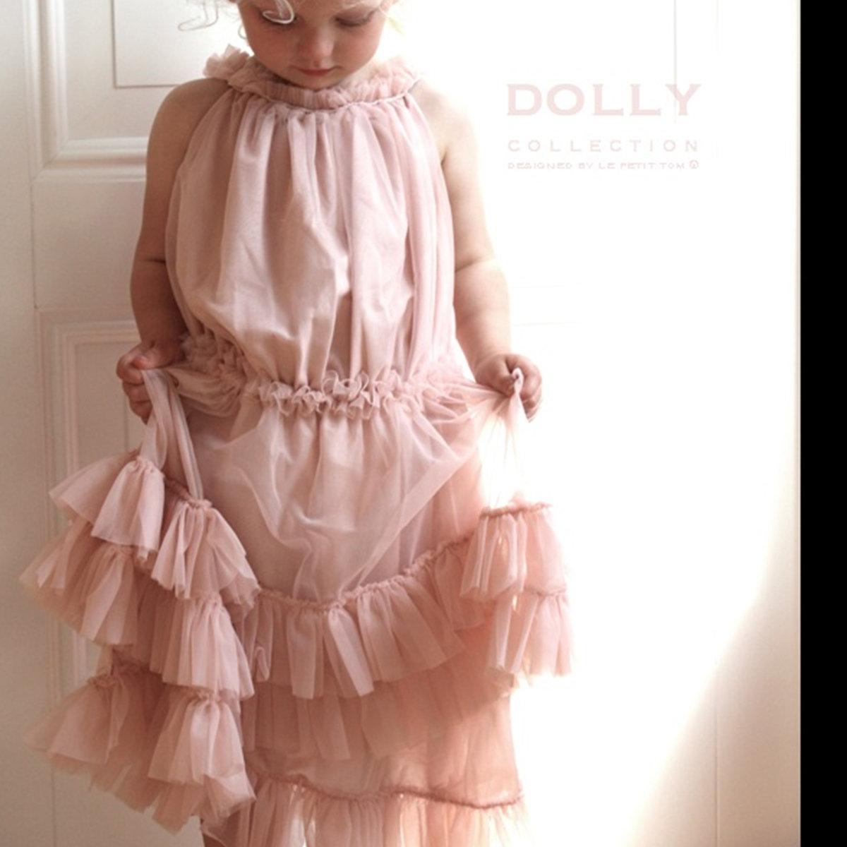 0a6c92ef710e Ballet Pink Ruffled Chiffon Dance Dress | Le Petit Tom Sale ...