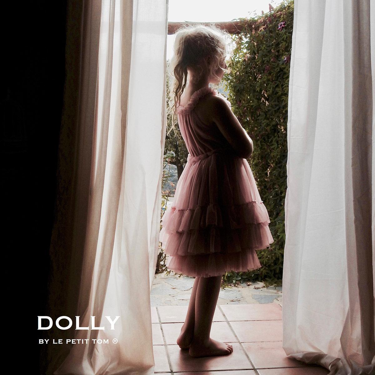 c17d56e289e6 Dusty Pink and Glitter Ruffled Chiffon Dance Dress | Le Petit Tom ...