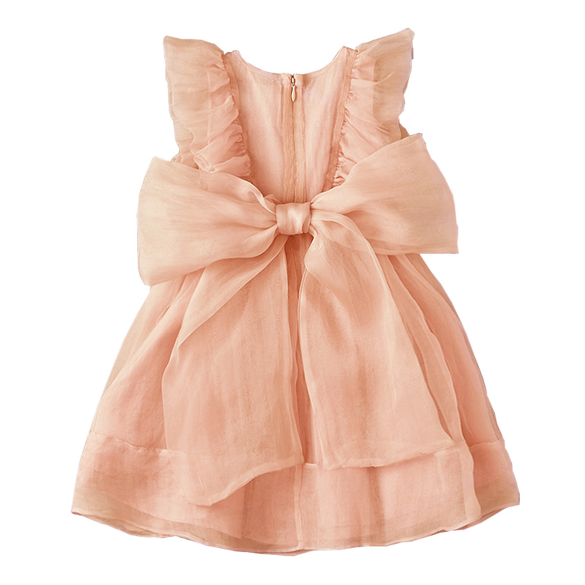 Peach Silk Dress Thumbnail