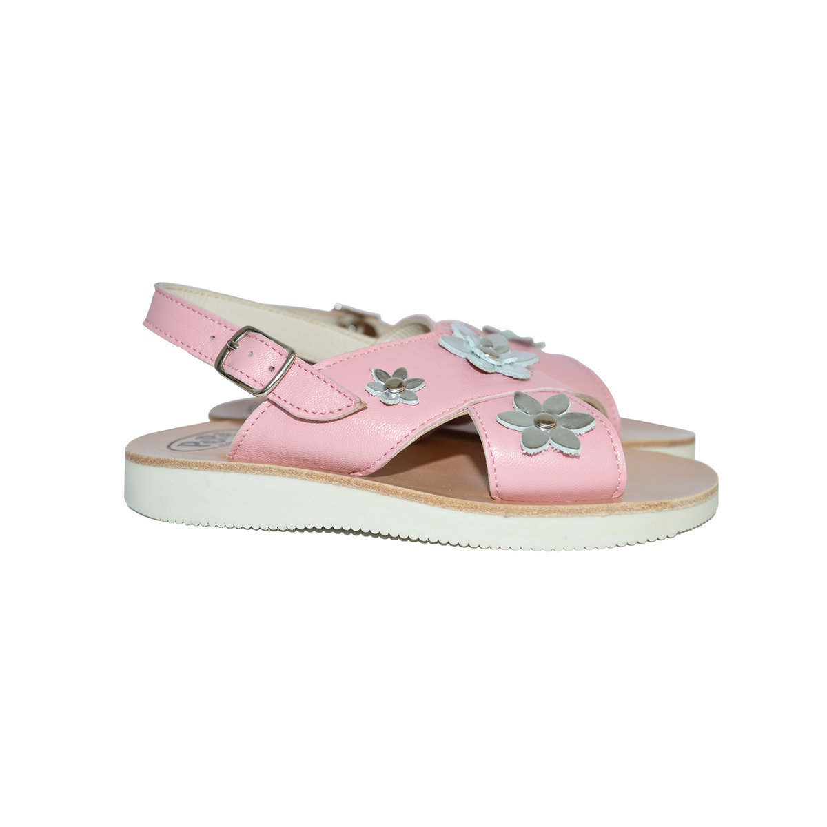 fe12c8389d6 Leather Sandals with Embellished Flower Thumbnail