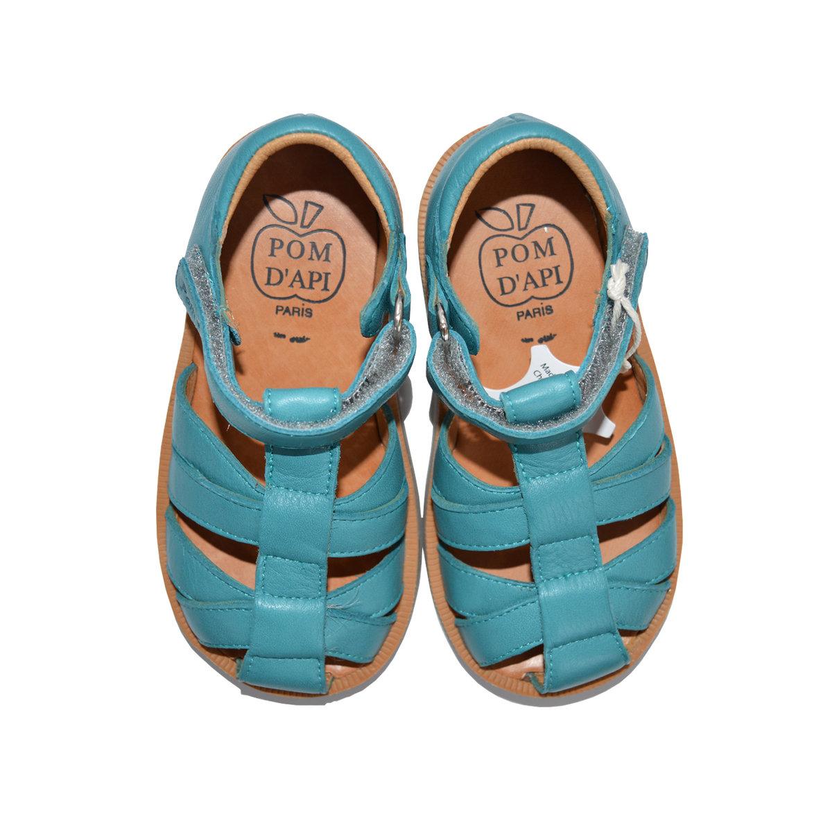 08ac195d1122b Boys leather sandals poppy pappy velcro Thumbnail