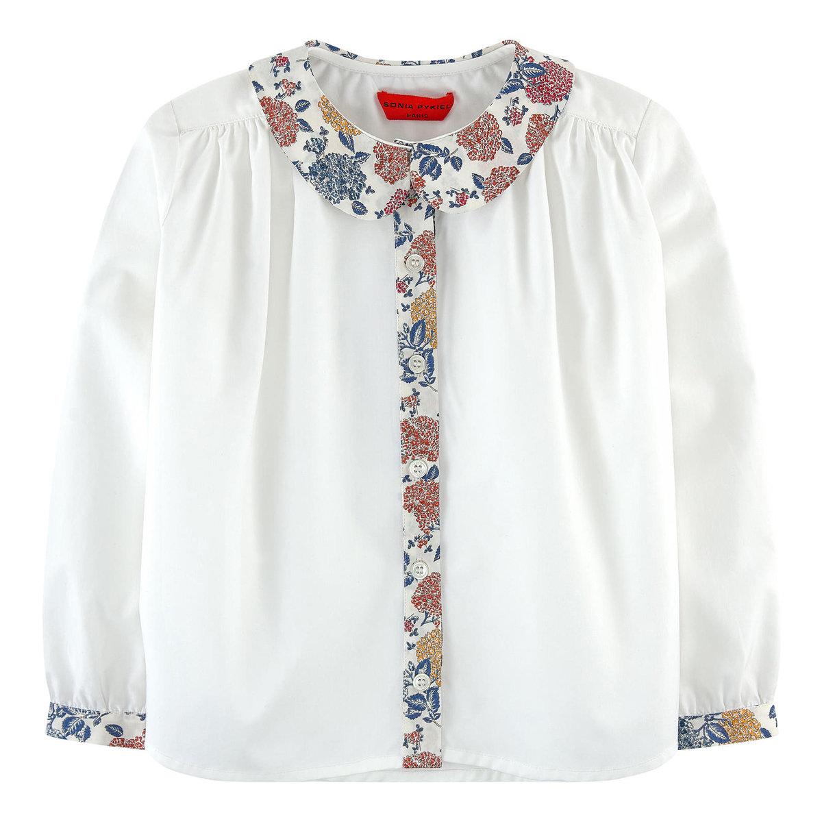 White Blouse With A Peter Pan Collar Sonia Rykiel Enfant Tees