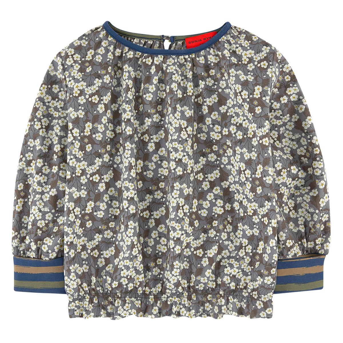 khaki liberty print blouse sonia rykiel enfant t shirts blouses tops angelibebe. Black Bedroom Furniture Sets. Home Design Ideas
