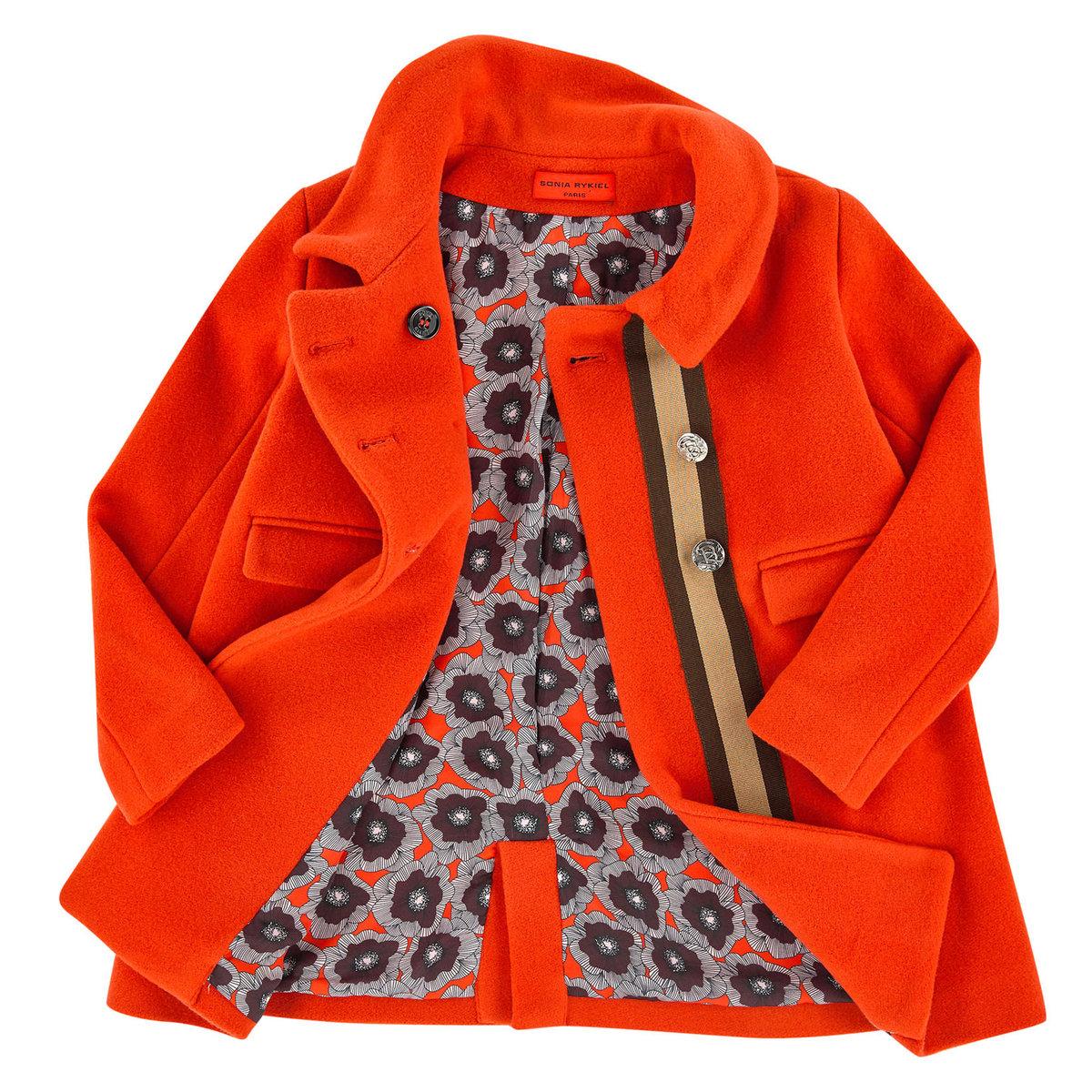 218965e4b5e5f2 Orange Wool Coat | Sonia Rykiel Paris Jackets & Coats | Angelibebe ...